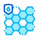 biometrical, material, waterproof icon icon