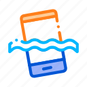 material, phone, waterproof icon icon