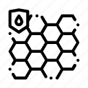 biometrical, material, waterproof icon