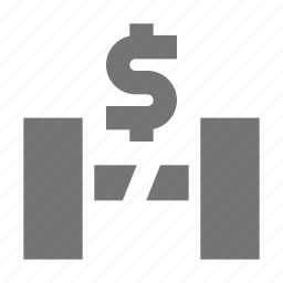 dollar, gate, money, ticket icon