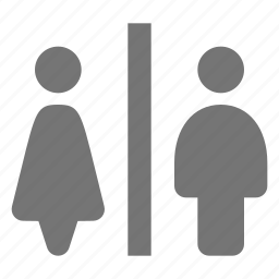 female, male, restroom, toilet icon