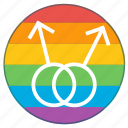 boys, double, lgbt, male, man, pride flag, rainbow icon