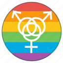 gay, girl, group, lgbt, pride flag, rainbow, sex icon