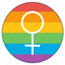 female, girl, lady, lgbt, pride flag, venus, woman icon