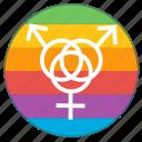 boy, girl, group, lgbt, pride flag, rainbow, sex icon