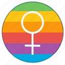 girl, lgbt, pride flag, rainbow, venus, woman, women icon