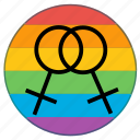 double, female, flag, gender, lgbt, woman, women icon