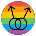 double, flag, gender, human, lgbt, male, man icon