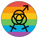 flag, gender, group, people, sex icon