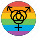 flag, gender, group, man, people, sex, woman icon
