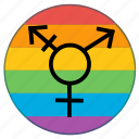 flag, gender, lgbt, pride, rainbow, transgender icon