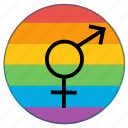 flag, gender, lgbt, rainbow, sex, transgender icon