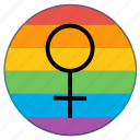 flag, gender, girl, lady, lgbt, venus, woman icon