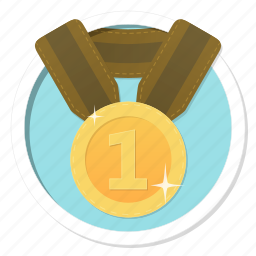 acknowledge, acknowledgement, award, badge, best, challenge, conquest, cup, first, game, gamification, gold, hero, medal, premium, prize, quality, rank, ranking, reward, star, success, trophy, victory, win, winner icon