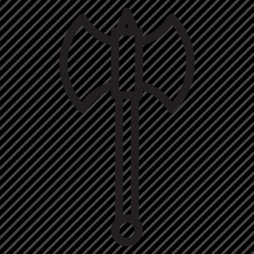 axe, battle, blade, weapon icon