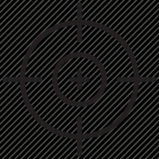 focus, target, war, weapon icon