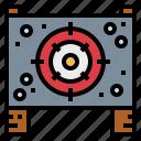 bullets, gun, shoot, target icon