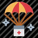 boxes, parachute, storage, warehouse