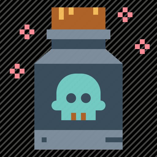 danger, dead, poison, skull icon