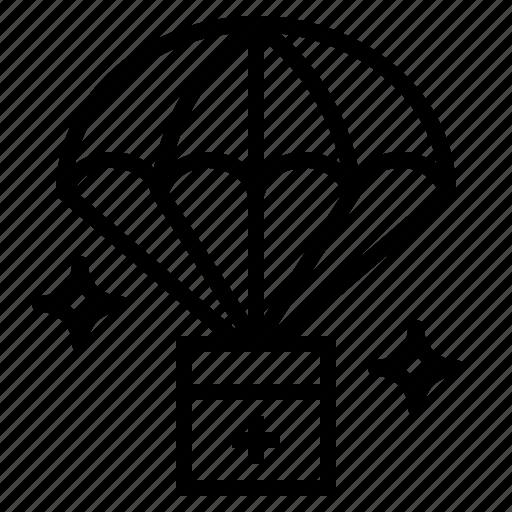 Boxes, parachute, storage, warehouse icon - Download on Iconfinder