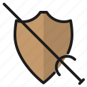 blade, shield, sword, weapon icon