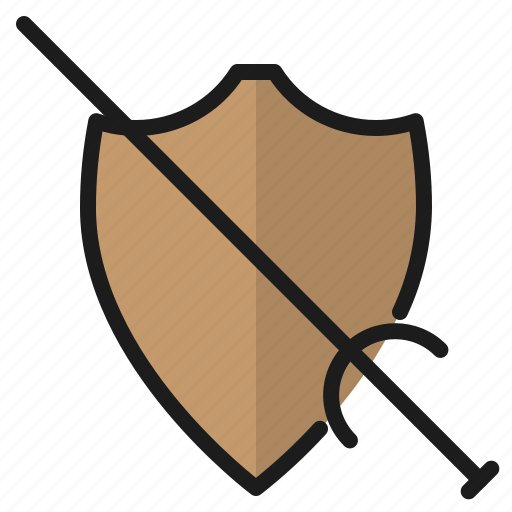 blade, shield, sword, weapon icon