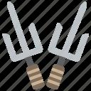 ninja, sai, sharp, weapon, weaponary icon
