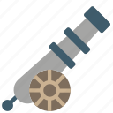cannon, gun, projectile, war, weaponary icon