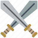 cross, medieval, sharp, swords, weapon, weaponary icon