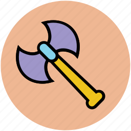 axe, battle axe, battle weapon, halberd, weapon icon