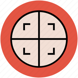 centre, focus, frame, target icon
