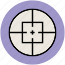 pursuit of goals, reticle, shooting, target, targeting icon
