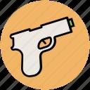 gun, hand gun, handgun, pistol, weapon icon