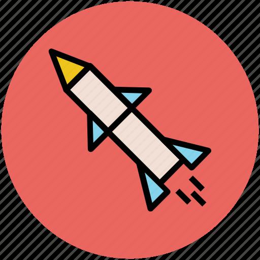 anti radar missile, missile, rocket, weapon icon
