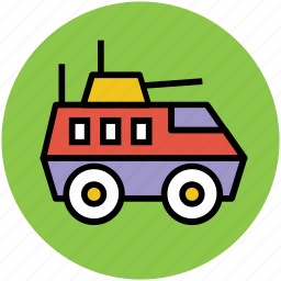 battle tank, military tank, vehicle, war tank icon