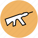 armament, rifle, sniper, sniper rifle, weapon icon