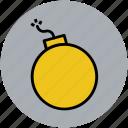 antipersonnel bomb, antipersonnel grenade, frag grenade, grenade, hand grenade icon