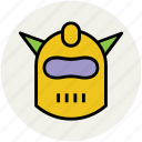 head safty, mask with horns, shredder, war mask icon