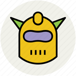 head safty, mask with horns, shredder, war mask icon