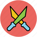 army, cross knives, fight, knives, swiss knives, war knives, weapon icon