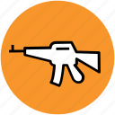 ak 47, gun, kalashnikov, rifle, tommy, war, weapon icon