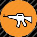 ak 47, gun, kalashnikov, rifle, tommy, war, weapon icon