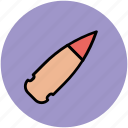 bullet, bullet cartridge, bullet for gun, gun bullet, weapon bullet icon