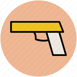 bullet gun, crime, gun, gunshot, handgun, pistol icon