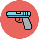 gun, hand gun, handgun, pistol, weapon icon