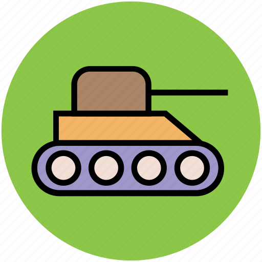 army tank, artillery, cannon, excavator, military, tank, vehicle icon