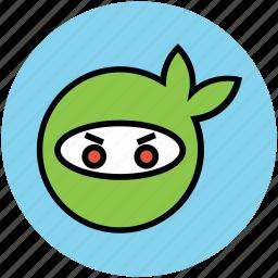 head, mask, ninja, ninja mask, protection icon