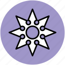 japanese weapon, ninja, ninja shuriken, ninja star, throwing, throwing stars icon