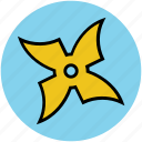 ninja star, samurai weapon, shuriken, shuriken ninja star, shuriken of nindzya icon