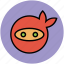 mask, ninja, ninja head, ninja mask, protection icon